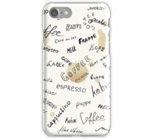 Coffee words background iPhone Case/Skin
