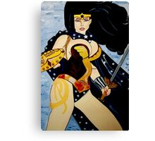 SUPER HERO  SUPER  WOMEN Canvas Print
