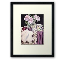 Blue Moon with plums Framed Print