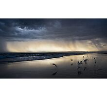 Approaching Storm  - Redhead Beach Photographic Print
