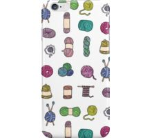 Balls of Yarn - Knitting Watercolor iPhone Case/Skin