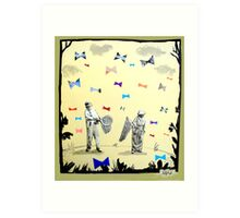 butterflies & bowties Art Print