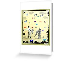 butterflies & bowties Greeting Card