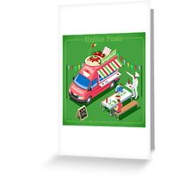 Italian Pasta Food Truck Greeting Card