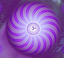 Crown Chakra ~ Violet ~ Sahasrara ~ Male by Julia Harwood