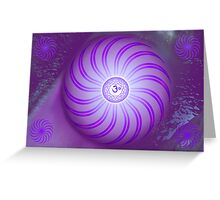 Crown Chakra ~ Violet ~ Sahasrara ~ Male Greeting Card