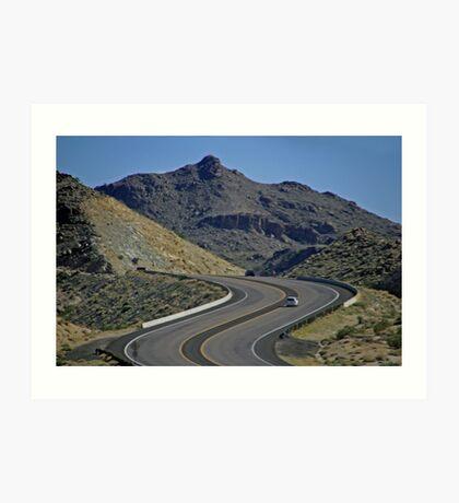 Lunar Highway-Nevada, U.S.A. Art Print