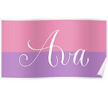 Ava - Modern Calligraphy Name Design Poster