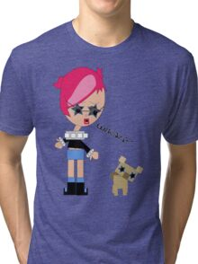 Susy and her dog Tri-blend T-Shirt
