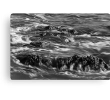 Backwash in Black and White Canvas Print