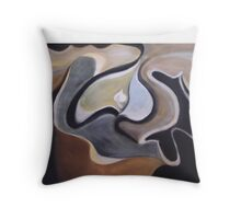 Earth Orchid Throw Pillow