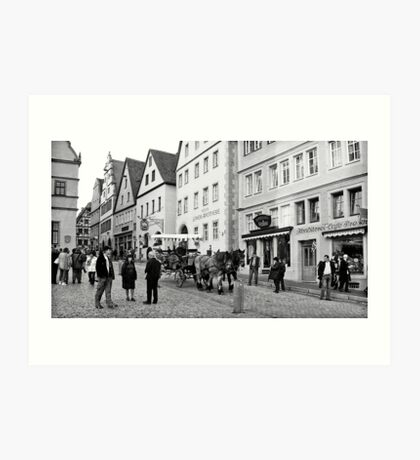 Rothenburg Street Scene Art Print