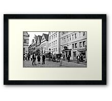 Rothenburg Street Scene Framed Print