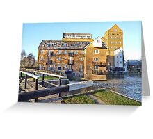 Coxes Lock Mill Building Greeting Card