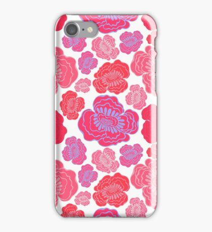 Beautiful pink and red flowers. iPhone Case/Skin