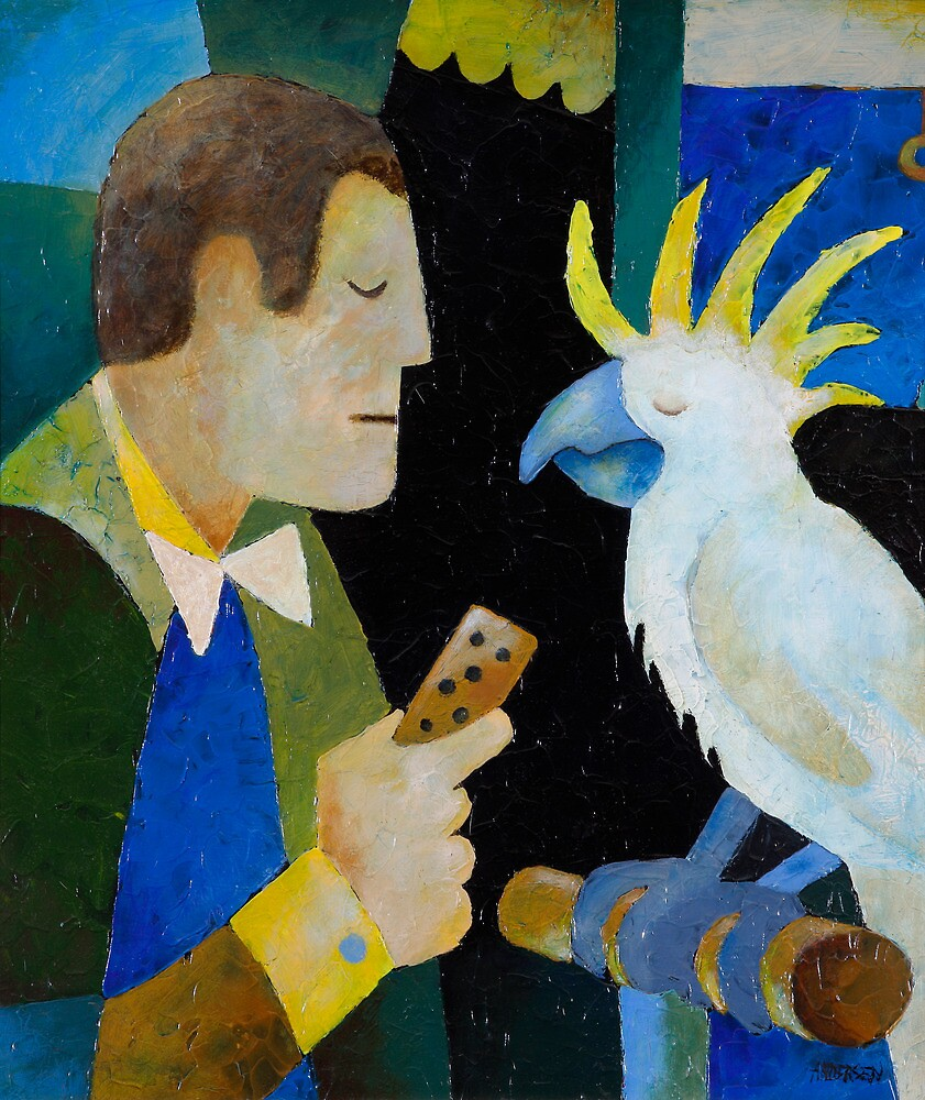 HE THOUGHT HE WAS A BABY BUDGIE by Thomas Andersen