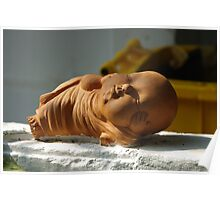 Terracotta Reclining Buddha  Poster
