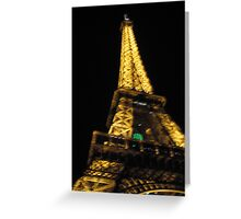 Eiffel Tower from the Red Bus Greeting Card
