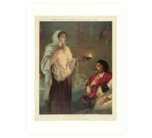 The lady with the lamp (Miss Nightingale at Scutari, 1854) Art Print