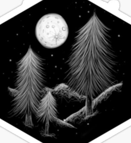 night scene Sticker