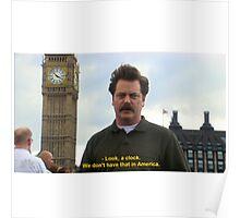 Ron Swanson Hates Europe Poster