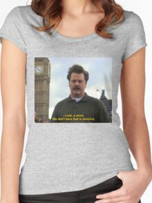 Ron Swanson Hates Europe Women's Fitted Scoop T-Shirt