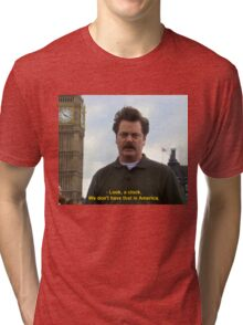 Ron Swanson Hates Europe Tri-blend T-Shirt