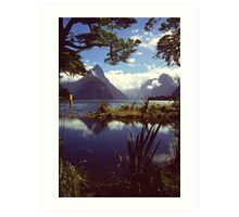 Milford Sound in Fiordland National Park Art Print