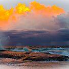 Turrimetta Beach on sunset by Doug Cliff