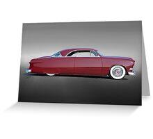 1951 Ford Custom Victoria III Greeting Card