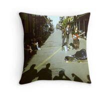Performers in New Orleans Throw Pillow
