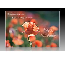 Birthday wishes of beauty and light Photographic Print