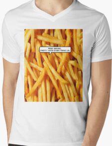 Fries before... Mens V-Neck T-Shirt