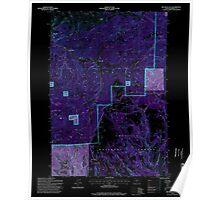 USGS Topo Map Oregon Big Rock Flat 279033 1995 24000 Inverted Poster