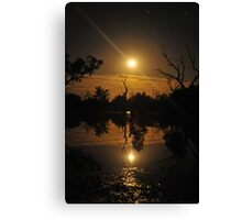 Moonrise reflections Canvas Print