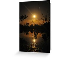 Moonrise reflections Greeting Card