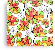 Leaves. Multi-colored leaf. Metal Print