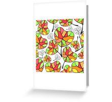 Leaves. Multi-colored leaf. Greeting Card