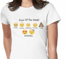 Emoji Womens Fitted T-Shirt