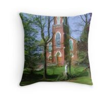 Historic St, Joseph's Catholic Church Throw Pillow