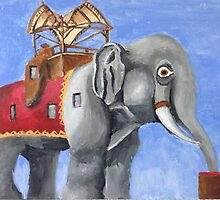 Lucy the Elephant: Original Painting by juliadip812