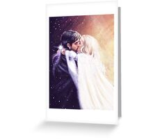 Where Night Meets Day Greeting Card