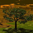 A Lone Treee -  Does It Brood? by Sazzart