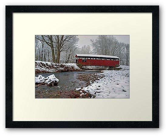 Snowy Muncy Creek Crossing by Gene Walls