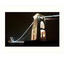 Bristol Suspension Bridge at Night Art Print