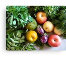 Vegetables & Fruits - Healthy Food Canvas Print