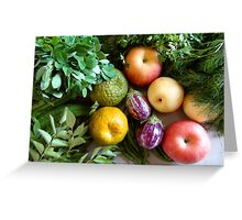 Vegetables & Fruits - Healthy Food Greeting Card