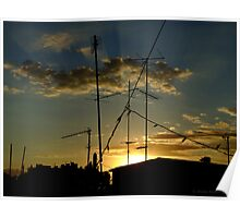 Antenna Sunset Poster