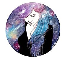 Galaxy girl Photographic Print