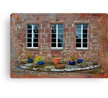Delgatie Castle From the Backyard (near Turriff, in Aberdeenshire, Scotland) Canvas Print